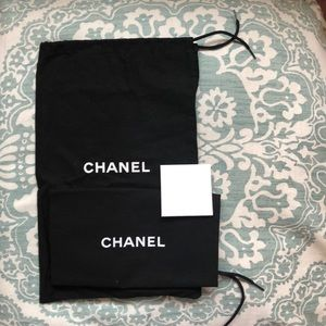 Chanel dust bag 2 and care card w envelope